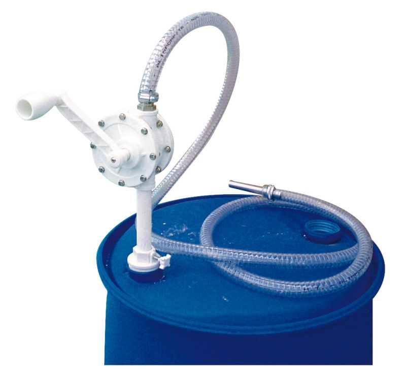 DEF Rotary Operated Hand Pump - Suction Tube, Adapter & Delivery Hose Included (4 GPM)