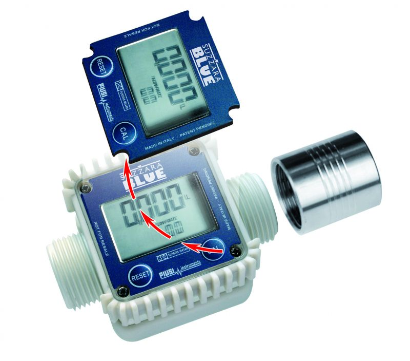 "K24 DEF Digital Meter 1"" MNPT x 1"" MNPT - Single Female Coupler Included (30 GPM)"