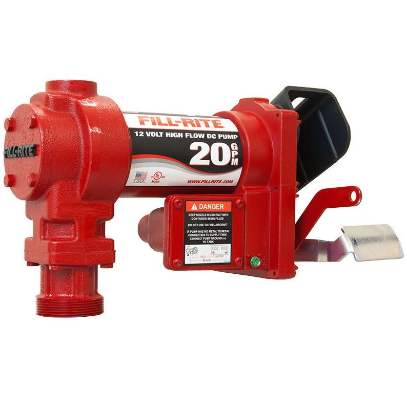 "Fill-Rite 12V 1"" Inlet/Outlet - 20 GPM (Pump Only)"