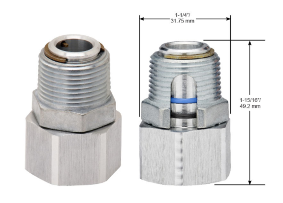 "Husky Single-Plane Swivel (008517) 1"" M NPT x 1"" F NPT High-Volume"