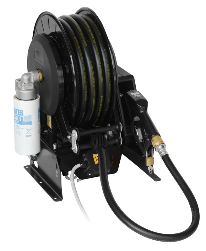 PIUSI Pitstop 12V DC Diesel Transfer System w/ 50 ft. Hose & Auto Nozzle