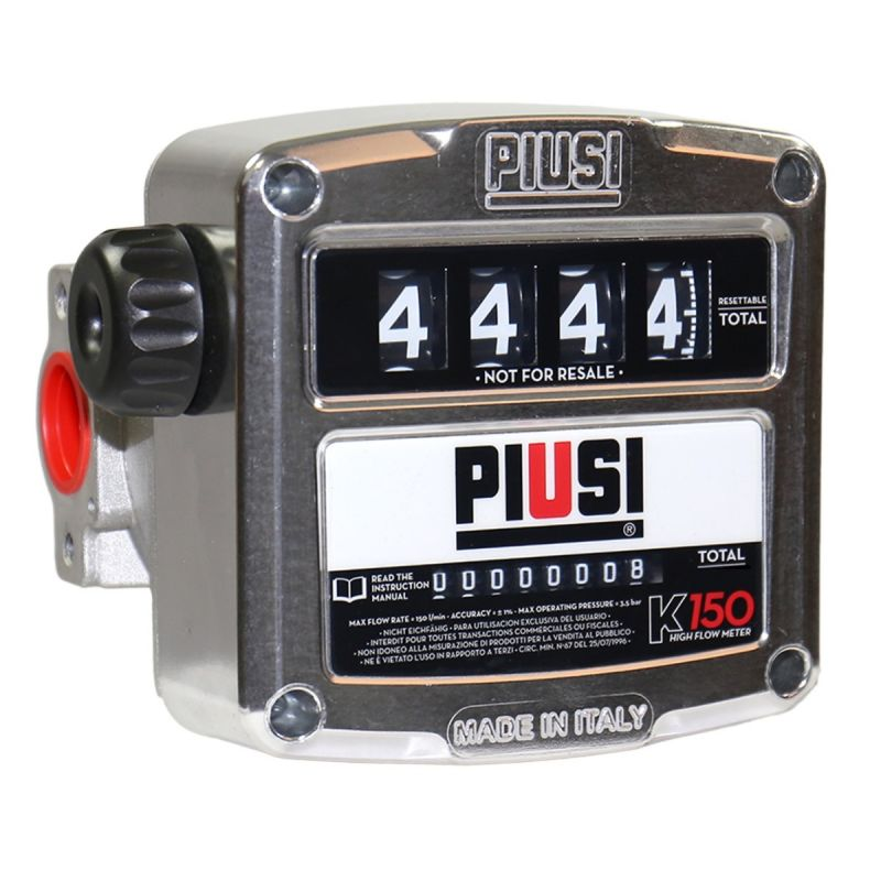K150 (40 GPM) Mechanical Flow Meter - PIUSI