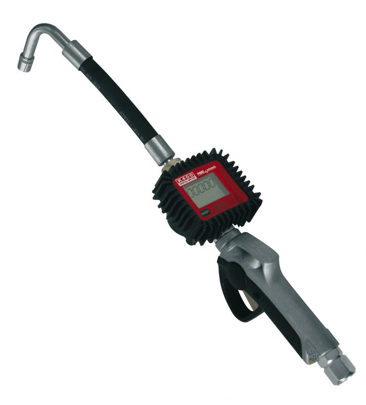 """K400 Nozzle Meter with Flexible Hose - 1/2"""" NPT Inlet (7.8 GPM)"""