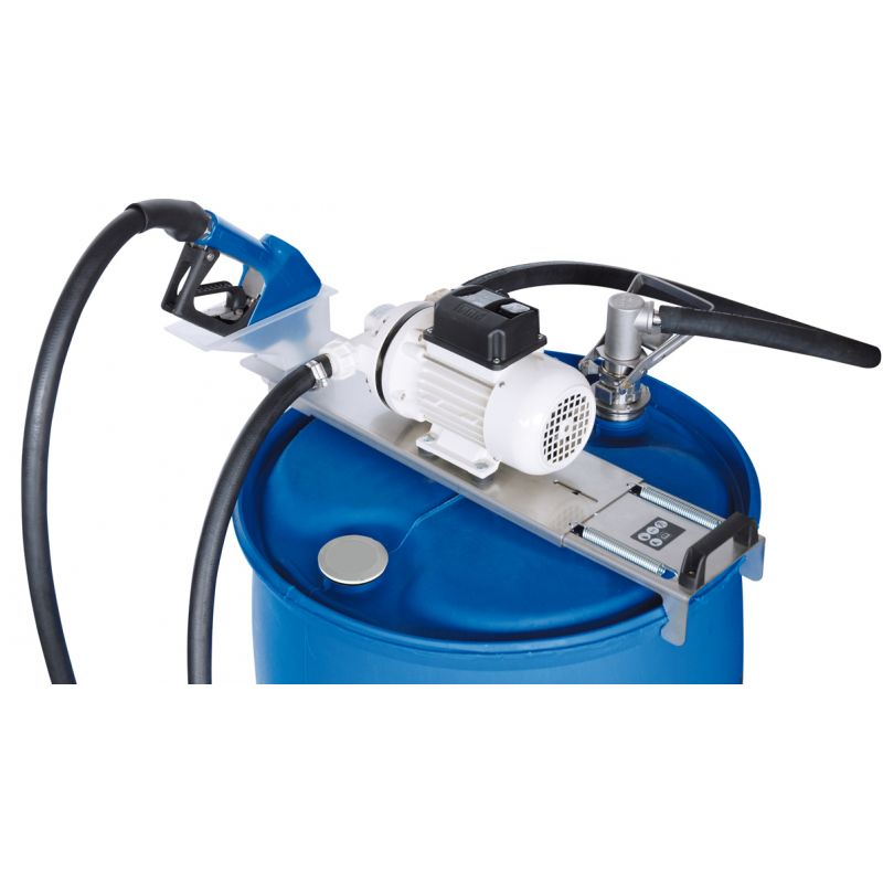 Suzzara Blue DEF Drum Pump, Automatic Nozzle Included - 120V (9 GPM)