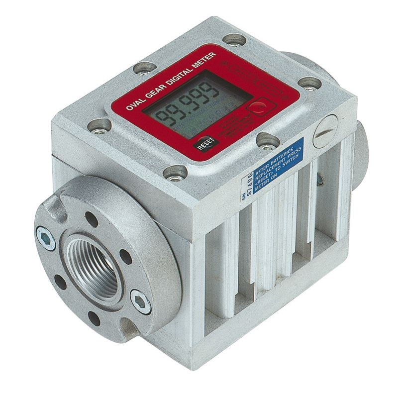 "K600/2 Digital Oil Flow Meter, Battery Powered, 3/4"" NPT (15.8 GPM)"