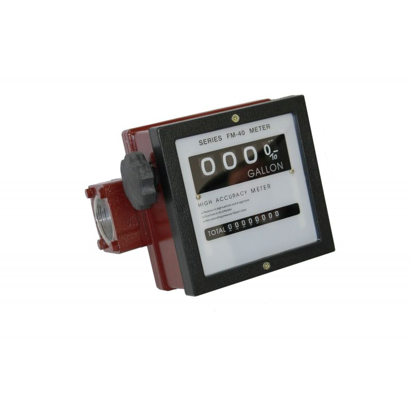"FM40 Mechanical 4 Digit Diesel Flow Meter - 1.5"" NPT (40 GPM)"