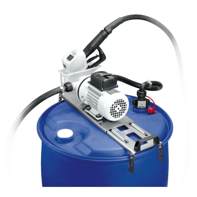Suzzara Blue DEF Drum Pump, w/ SB325 Metered Nozzle - 120V (9 GPM)